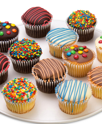 Chocolate Covered Company 12-Pc. Birthday Belgian Chocolate Dipped Cupcakes