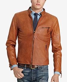 Polo Ralph Lauren Men's Café Racer Leather Jacket