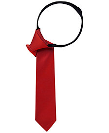 Tommy Hilfiger Solid Twill Zipper Tie, Big Boys