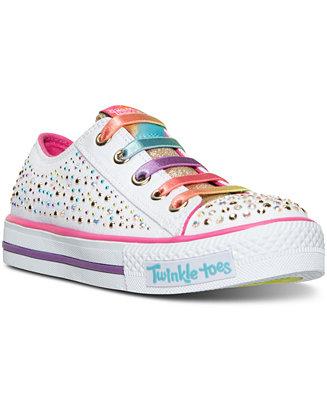 Skechers Little Girls Twinkle Toes Shuffles Glitter