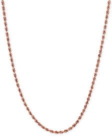 Rope Chain Necklace (1-3/4mm) in 14k Rose Gold