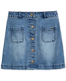 Tommy Hilfiger Button-Front Denim Skirt, Big Girls