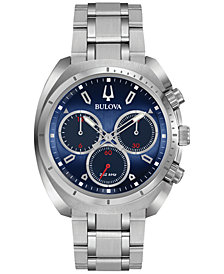 Bulova Men's Chronograph CURV Stainless Steel Bracelet Watch 43mm 96A185