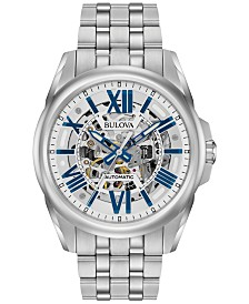 Bulova Men's Automatic Stainless Steel Bracelet Watch 43mm 96A187