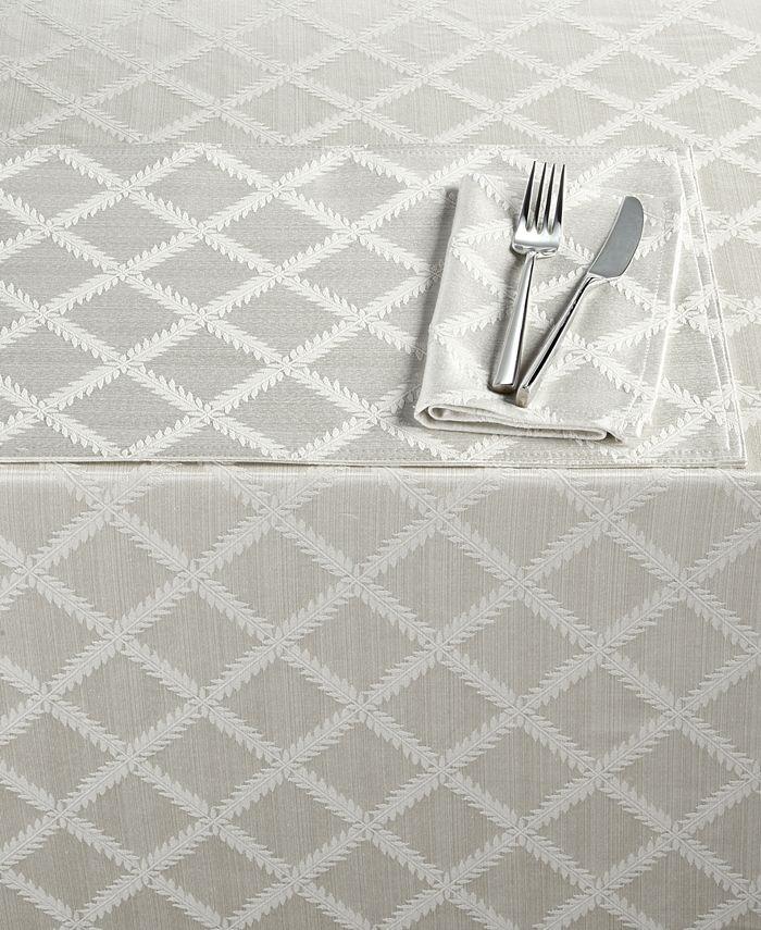 "Lenox - Laurel Leaf Oblong Tablecloth, 70"" x 86"""