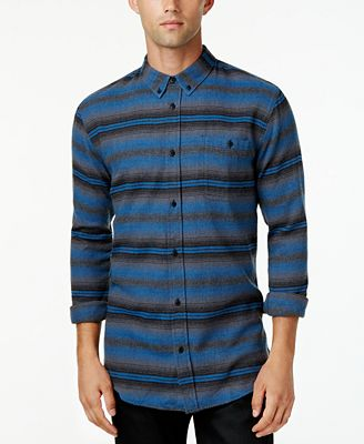 Ezekiel Men's Long-Sleeve Sanders Stripe Shirt