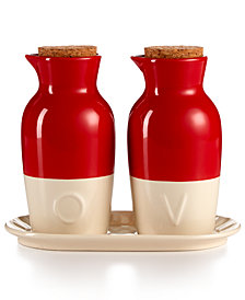 Martha Stewart Collection Ceramic Oil and Vinegar Set, Created for Macy's