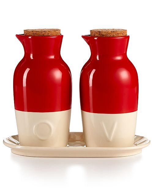 Ceramic Oil and Vinegar Set, Created for Macy's