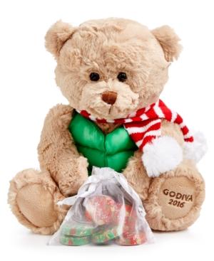 Godiva Chocolatier, Annual Holiday Plush Bear with Milk Chocolate Bar