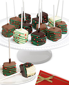Chocolate Covered Company  10-Pc Christmas Belgian Chocolate-Covered Cheesecake Pops