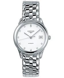 Men's Swiss Automatic Flagship Diamond Accent Stainless Steel Bracelet Watch L47744276