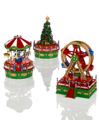 Mini Carnival Christmas Tree with Train Music Box