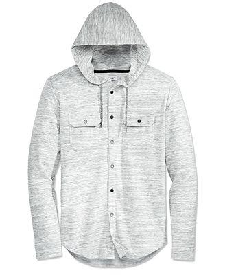 Univibe Men's Button-Front Hoodie