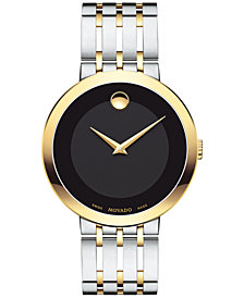 Movado Men's Swiss Esperanza Two-Tone PVD Stainless Steel Bracelet Watch 39mm 0607058