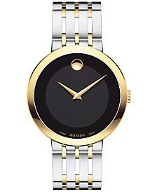Movado Men's Swiss Esperanza Two-Tone PVD Stainless Steel Bracelet Watch 39mm 0607058