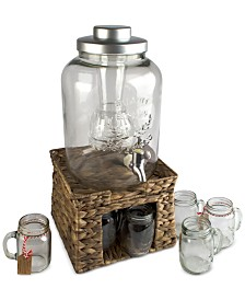 Artland 8-Pc. Masonware Garden Terrace Beverage Stand & Dispenser Set