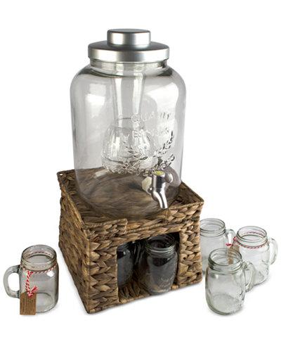 Artland 8-Pc. Oasis Garden Terrace Beverage Stand & Dispenser Set