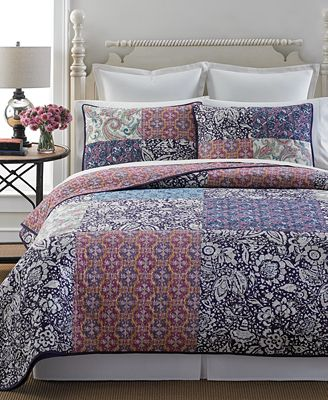 Martha Stewart Collection Potpourri Patchwork Quilt and Sham ... : quilts at macys - Adamdwight.com
