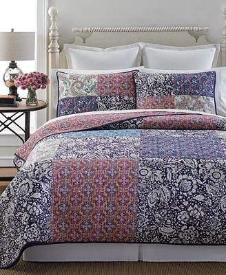 Martha Stewart Collection Potpourri Patchwork Quilt and Sham ... : macys bedding quilts - Adamdwight.com