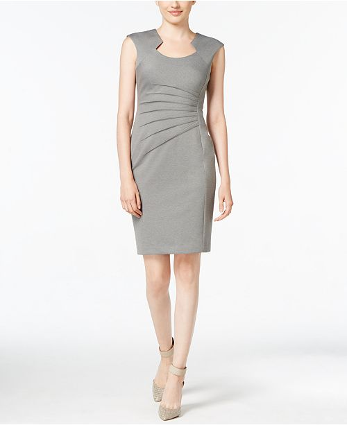 Calvin Klein Pleated Sheath Dress
