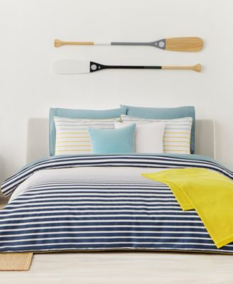 lacoste home daunou stripe duvet sets