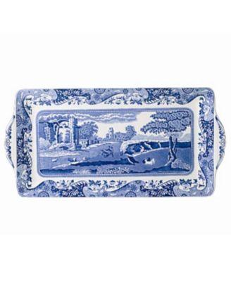 """""""Blue Italian"""" Sandwich Tray, 13"""""""