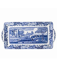 """Blue Italian"" Sandwich Tray, 13"""