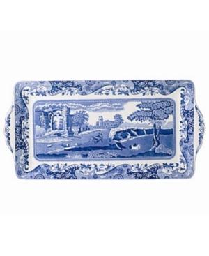 """Spode """"Blue Italian"""" Sandwich Tray, 13"""