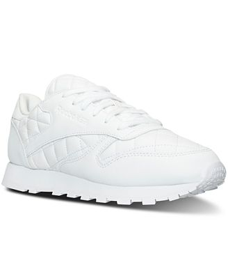 Reebok Women's CL Quilted Casual Sneakers from Finish Line