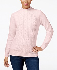 Petite Cable-Knit Sweater, Created for Macy's