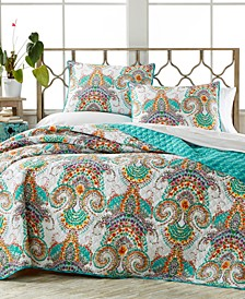 CLOSEOUT! Daria 3-Pc. Reversible Full/Queen Quilt Set
