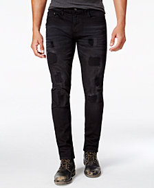 Ring of Fire Men's Slim Fit Stretch Destructed Jeans, Created for Macy's