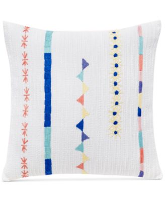 "CLOSEOUT! Kalkan Indori Embroidered 16"" Square Decorative Pillow"