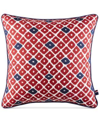 "CLOSEOUT! Ellis Island Diamond 18"" Square Decorative Pillow"