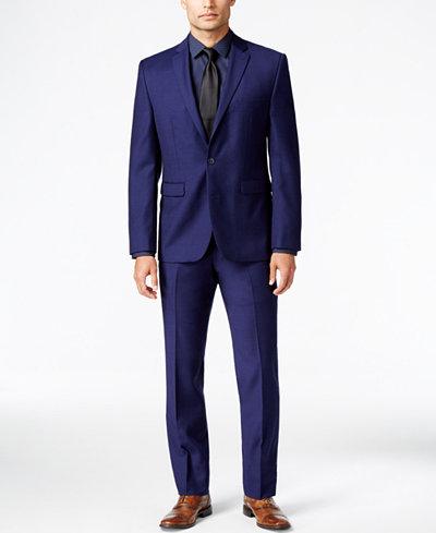 Vince Camuto Men's Slim-Fit Blue Flannel Suit