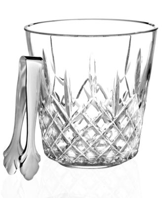 Barware, Lismore Ice Bucket With Tongs