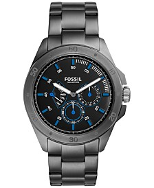 fossil watches macy s fossil men s chronograph sport 54 smoke tone stainless steel bracelet watch 44mm ch3035