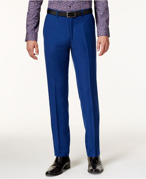 Bar III Men's Slim-Fit Cobalt Pants, Created for Macy's