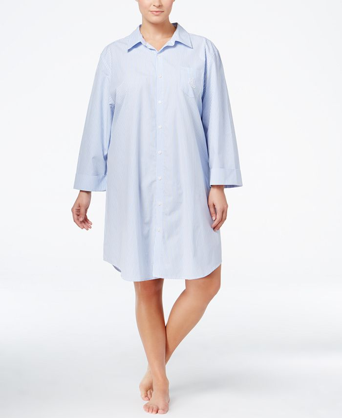 Lauren Ralph Lauren - Plus Size Boyfriend Sleepshirt