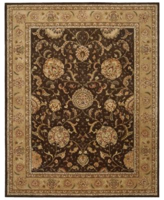 "Area Rug, Nourison 2000 2206 Brown 3' 9"" x 5' 9"""