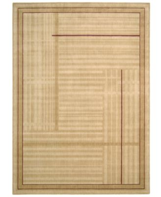 "CLOSEOUT! Area Rug, Somerset ST17 Lines Gold 7' 9"" x 10' 10"""