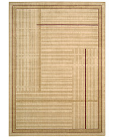 "CLOSEOUT! Nourison Area Rug, Somerset ST17 Lines Gold 5' 6"" x 7' 5"""