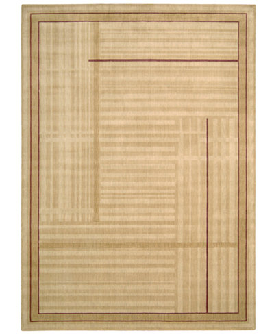 CLOSEOUT! Nourison Area Rug, Somerset ST17 Lines Gold 5' 6