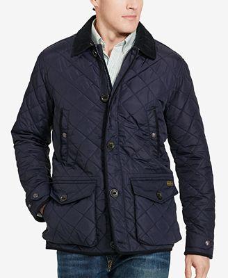 Polo Ralph Lauren Men's Big & Tall Diamond-Quilted Jacket - Coats ... : polo ralph lauren quilted - Adamdwight.com