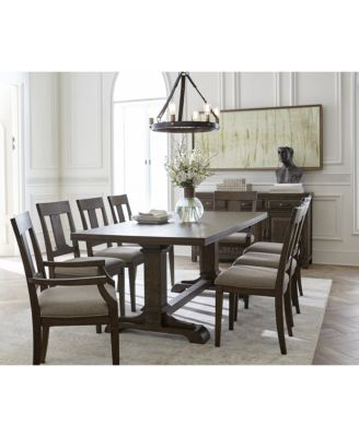 Briarcliff Dining Furniture Piece Set Dining Pedestal Table - Macys dining room sets