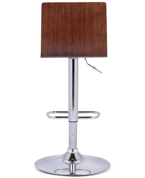 Stupendous Aubrey Barstool Chrome Base Finish With Black Faux Leather And Walnut Back Andrewgaddart Wooden Chair Designs For Living Room Andrewgaddartcom
