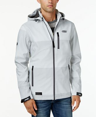 Point Zero Men's Soft-Shell Fleece-Lined Wind and Water Resistant ...
