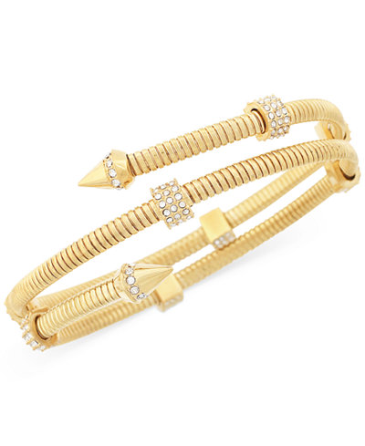 Vince Camuto Gold-Tone Pav� Accented Coil Bracelet