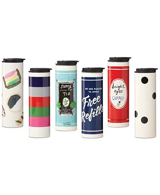 kate spade new york All In Good Taste Travel Tumblers, Created for Macy's