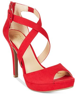 Material Girl Helenah Platform Dress Sandals, Only at Macy's